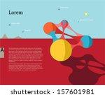flyer  leaflet  booklet layout. ... | Shutterstock .eps vector #157601981