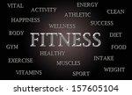 fitness word cloud written in... | Shutterstock . vector #157605104