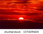 Sunrise at Khong Chiam, Ubon Ratchathani. It locates in the North East of Thailand. - stock photo