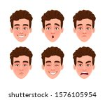 face expressions of handsome...   Shutterstock .eps vector #1576105954