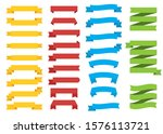 set of different color ribbons... | Shutterstock .eps vector #1576113721