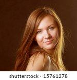young woman portrait  studio...   Shutterstock . vector #15761278