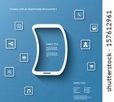 flexible display smartphone... | Shutterstock .eps vector #157612961