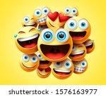 emoticons group vector design.... | Shutterstock .eps vector #1576163977