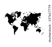 world map  | Shutterstock .eps vector #157617779