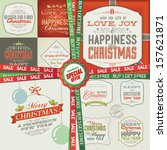 special christmas and new year... | Shutterstock .eps vector #157621871