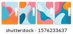 geometric template  covers set... | Shutterstock .eps vector #1576233637