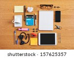 diferent business objects on... | Shutterstock . vector #157625357