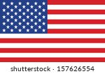 vector image of american flag | Shutterstock .eps vector #157626554