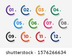 number bullet points from one... | Shutterstock .eps vector #1576266634