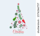 christmas tree made with... | Shutterstock .eps vector #1576266757