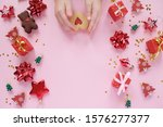 christmas background with...   Shutterstock . vector #1576277377