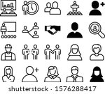 people vector icon set such as  ... | Shutterstock .eps vector #1576288417