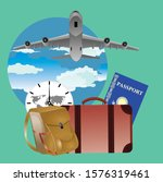 flat vector  set of travel on...   Shutterstock .eps vector #1576319461