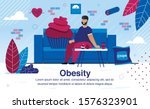 obesity and unhealthy lifestyle ... | Shutterstock .eps vector #1576323901
