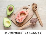 food with unsaturated fats | Shutterstock . vector #157632761
