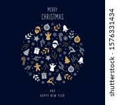 christmas icons elements...   Shutterstock .eps vector #1576331434