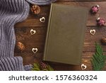 Book And Winter Decor  On...