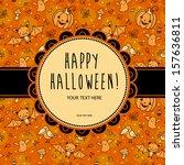 stylish halloween card in...   Shutterstock .eps vector #157636811