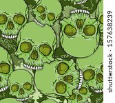 camouflage skull background.... | Shutterstock .eps vector #157638239