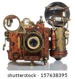 copper photo camera.. style... | Shutterstock . vector #157638395