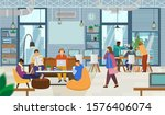 young creative people working... | Shutterstock .eps vector #1576406074