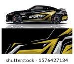 sport car decal wrap design...   Shutterstock .eps vector #1576427134