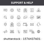 set of 24 support and help web... | Shutterstock .eps vector #1576437601