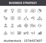 set of 24 business strategy web ... | Shutterstock .eps vector #1576437607