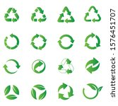recycle icon set. recycle... | Shutterstock .eps vector #1576451707