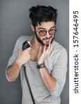 sexy fashion man model dressed... | Shutterstock . vector #157646495