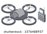 copter with remote controller ... | Shutterstock .eps vector #1576488937