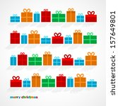 set of christmas gifts  vector... | Shutterstock .eps vector #157649801