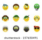 collection of icons smileys on... | Shutterstock .eps vector #157650491