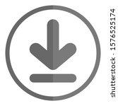 gray download button. vector... | Shutterstock .eps vector #1576525174