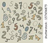 vintage numbers | Shutterstock .eps vector #157656875
