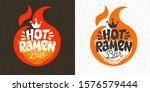 asian food hot ramen logo ... | Shutterstock .eps vector #1576579444