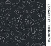 grey signboard hanging icon... | Shutterstock .eps vector #1576595077