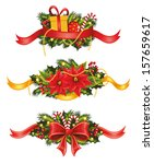 set of christmas banners.  | Shutterstock .eps vector #157659617