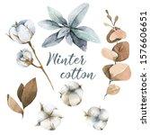 hand painted watercolor set of...   Shutterstock . vector #1576606651