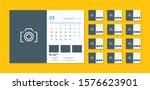 desk calendar template for 2020 ... | Shutterstock .eps vector #1576623901
