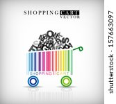 abstract vector shopping cart... | Shutterstock .eps vector #157663097