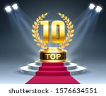 top 10 best podium award sign ... | Shutterstock .eps vector #1576634551