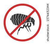 insect flea vector icon.black... | Shutterstock .eps vector #1576652344