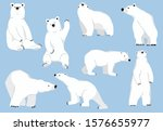 Simple White Bear Character...