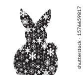 vector silhouette of snowy... | Shutterstock .eps vector #1576659817