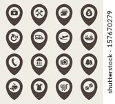 map icons set | Shutterstock .eps vector #157670279