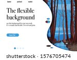 landing page with nature theme. ...