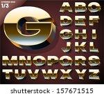 vector illustration of golden... | Shutterstock .eps vector #157671515