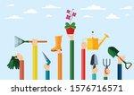 flat design illustration of... | Shutterstock .eps vector #1576716571